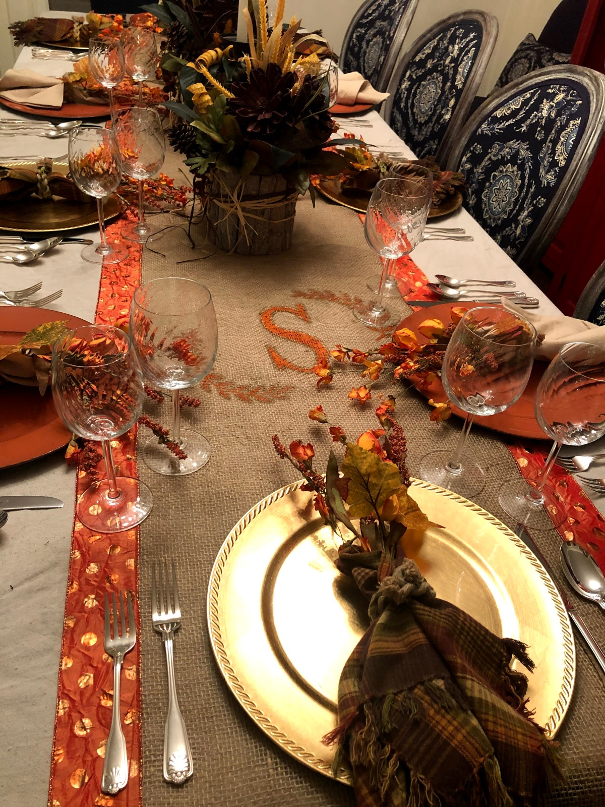 Thanksgiving Table RunnerDIY